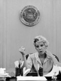 Chicago Mayor Jane Byrne Premium Photographic Print by Alfred Eisenstaedt