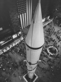 Rocket Being Displayed at Grand Central Station as a Salute to International Geophysical Year Stampa fotografica Premium
