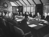 President Dwight D. Eisenhower Presiding over First Cabinet Meeting Since His Heart Attack Premium Photographic Print