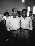 Defendants J.W. Milam and Roy Bryant at their Trial for the Murder of Black Teenager Emmett Till Premium Photographic Print by Ed Clark