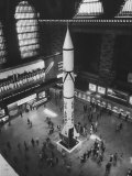 Rocket Being Displayed at Grand Central Station as a Salute to International Geophysical Year Premium Photographic Print