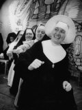 Nuns Putting on Original Musical Comedy at University of Notre Dame Premium Photographic Print