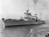 American Heavy Cruiser Uss Indianapolis Stampa fotografica