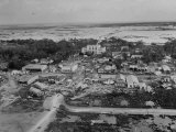 Torn Community after Hurricane Audrey Premium Photographic Print by Peter Stackpole