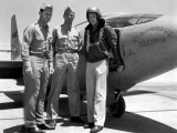 Capt. Charles Yeager, Major Gus Lundquist and Capt. James Fitzgerald Standing in Front of Bell X-1 Photographic Print