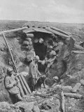 French Soldiers Standing Outside their Trench During World War I Premium Photographic Print
