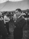 Vice Pres. Richard M. Nixon Attending a Gop Rally Premium Photographic Print by Ed Clark