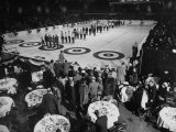 Curling Party Being Given before the Opening of First US Men's National Championships Photographic Print