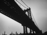 Picture of Manhattan Bridge Taken from Almost Directly Underneath Photographic Print by Lisa Larsen