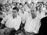 Defendants Roy Bryant and J. W. Milam During their Trial for the Murder of Emmett Till Premium Photographic Print by Ed Clark