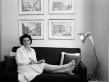 Architectural Critic and Industrial Designer Ada Louise Huxtable Premium Photographic Print by Alfred Eisenstaedt