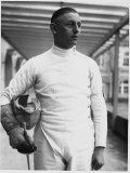 Erwin Casmir, One of Germany's Best Fencers, and Possible Canidate for the Olympic Games Premium Photographic Print