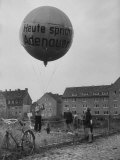 Balloon Being Lifted to Support Konrad Adenauer, During Elections Premium Photographic Print by Ralph Crane