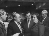 Mrs. Golda Meir with Ishar Harari and Gideon Rafael of the Israeli Delegation at the Un Premium Photographic Print by Lisa Larsen