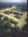 Aerial View of First Agrovilla Set Up Along Transamazon Highway Premium Photographic Print by John Dominis