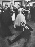 Lady Bernard Docker in Formal Dress, on Floor, Dancing at Fabulous Party Thrown by Her Photographic Print by Carl Mydans