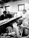Salvation Army Soup Kitchen in Action Premium Photographic Print by Lisa Larsen