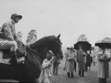 "Race Horse Owner Marcel Boussac, at Chantilly Race Track with His Horse ""Cordova"" Photographic Print"