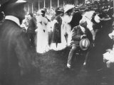Fans at Steeple Chase in Paris by Photographer Edward Steichen Premium Photographic Print