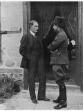 Turkish Leader Mustafa Kemal Ataturk Speaking W. His General, Ismet Pasha Premium Photographic Print