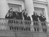 Andrei Gromyko, Urho Kekkonen, Nikita Khrushchev, Nikolai Belganin, V.J. Sukselainen Premium Photographic Print