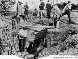 Prospectors Digging for Gold on the Rand in South Africa Premium Photographic Print