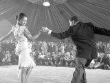 Professional Dancers Performing the Mambo Premium-Fotodruck von Yale Joel