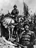 Russian Czar Ivan the Terrible on Horse, Surrounded by Soldiers Premium Photographic Print