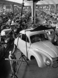 Dkw Auto Works, New 1954 Opels Getting Made Premium Photographic Print by Ralph Crane