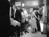 Patrons Inside a Manhattan Bar Called P.J. Clark's Saloon Include Men Wearing Shorts, a New Fad Premium Photographic Print by Alfred Eisenstaedt