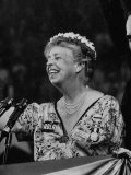 Mrs. Eleanor Roosevelt Speaking at the National Democratic Convention Premium Photographic Print