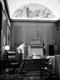 Attorney General Robert F. Kennedy Working Late into the Night in His Office Photographic Print