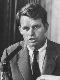Sen. Robert F. Kennedy Attending a Labor Hearing Premium Photographic Print by Ed Clark