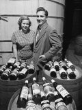 Marvin Sands and His Wife Marilyn with their Wine. Ceo of Canandaigua Industries. Canandaigua, Ny Premium Photographic Print