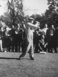 Pres. Dwight D. Eisenhower, Playing Golf for the First Time after His Heart Attack Premium Photographic Print