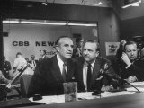 Walter Cronkite and Averell Harriman, Cbs News Coverage for the Democratic National Convention Premium Photographic Print by Yale Joel