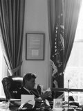President John F. Kennedy in the Oval Office During the Steel Crisis Photographic Print