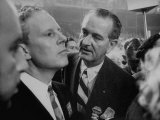 Sen. Albert Gore and Lyndon B. Johnson, at the Democratic Convention Premium Photographic Print