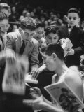 Wes Santee at Knights of Columbus Meet, at Madison Square Garden, Signing Autographs Premium Photographic Print by Lisa Larsen