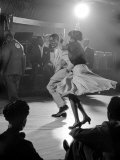 Professional Dancers Performing the Mambo Premium Photographic Print by Yale Joel