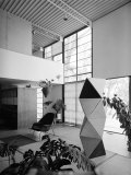 Interior of the Home of Designer Charles Eames Photographic Print