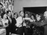 Middle Class Family Throwing a Birthday Party Premium Photographic Print by Ed Clark