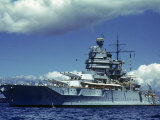Battleship During Us Navy Manuevers Off Hawaii Photographic Print by Carl Mydans