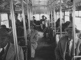 Ministers and Others Riding a Bus to Protest Against Segregated Transportation Premium Photographic Print