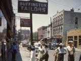 Scene on Beale Street, Memphis, Tennessee Premium Photographic Print