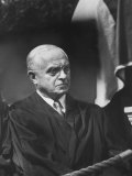 Supreme Court Justice Felix Frankfurter Attending Commencement Ceremony at William and Mary College Premium Photographic Print
