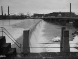 Water Flowing over Power Dam on the Merrimack River Premium Photographic Print