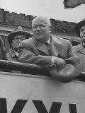 Nikita Khrushchev During Visit to Finland Premium Photographic Print