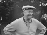 President Dwight D. Eisenhower Smiling on Golf Course Premium Photographic Print by Ed Clark