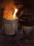 Iron Running, Pouring. Birmingham Steel Company Premium Photographic Print by Dmitri Kessel